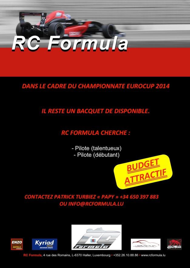 RCFormula communiqué - EUROCUP