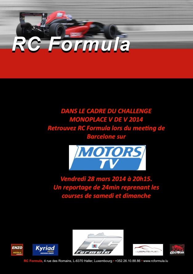 RCFormula communiqué junior team - VDEV - copie